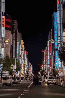 Le luci di Shinjuku a Tokyo
