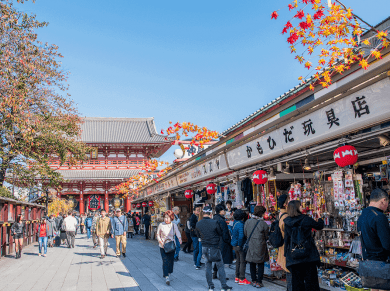 Nakamise-dōri, la strada del Sensō-ji