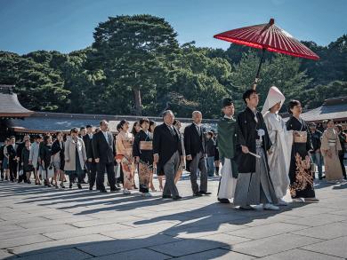 Matrimonio al Meiji Jingu