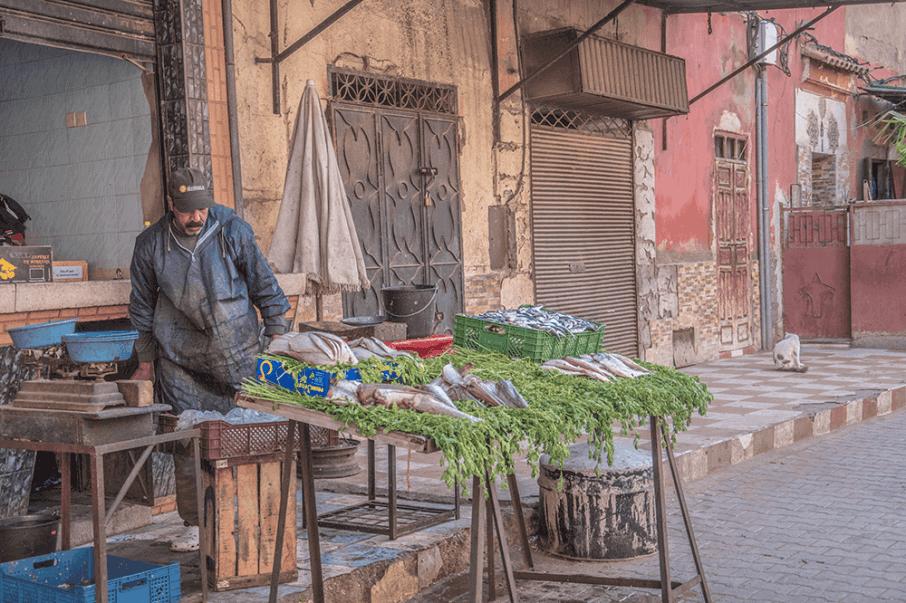 Bancarelle Souk Marrakech Marocco