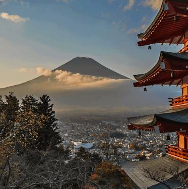 La Chureito Pagoda e il Monte Fuji