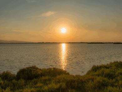Tramonto sulla Laguna di Orbetello